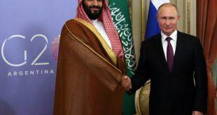 الرئيس الروسي فلاديمير بوتين مع ولي العهد السعودي محمد بن سلمان