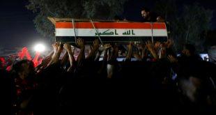 تشييع أحد قتلى الاحتجاجات في العراق