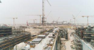 أعمال بناء في أكسبو دبي بدولة الإمارات