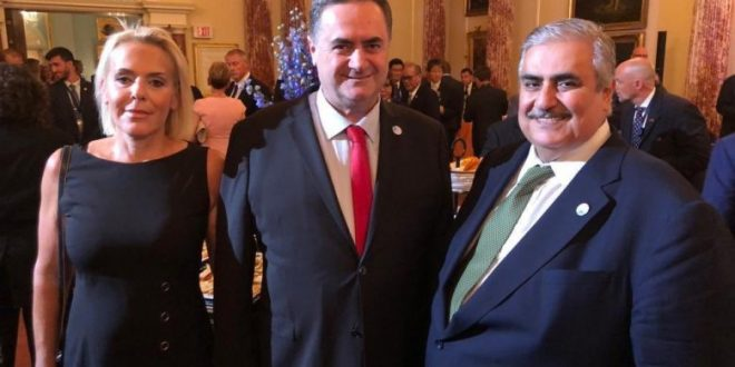 وزير خارجية البحرين مع وزير الخارجية الإسرائيلي