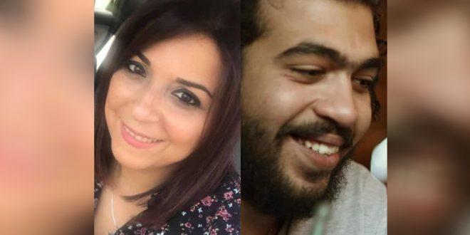 إسراء عبد الفتاح (يسار)