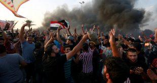 جانب من التظاهرات في بغداد