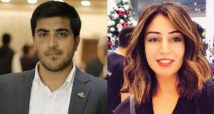 المواطنان الأردنيان هبة اللبدي (يمين) وعبد الرحمن مرعي رهن الاعتقال الإداري في إسرائيل