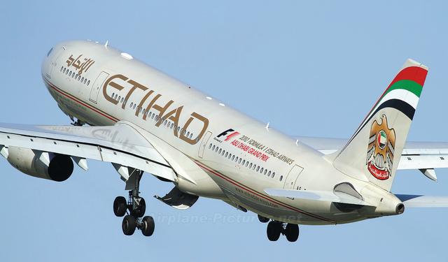 طائرة تابعة لشركة طيران الاتحاد الإماراتية