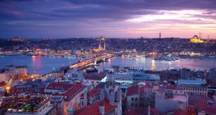 منظر عام لأفق إسطنبول في تركيا