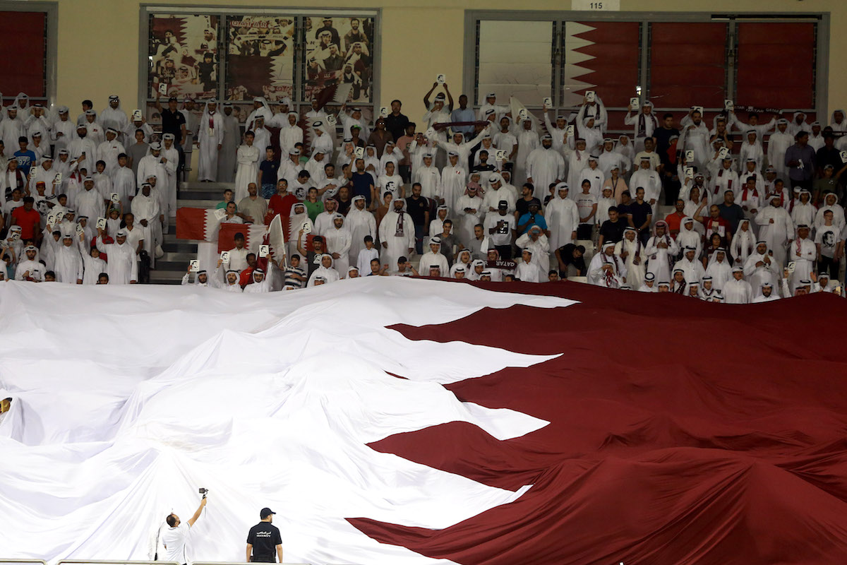 جماهير منتخب قطر