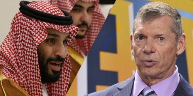 كان ولي العهد محمد بن سلمان (يسار) غاضبًا من فينس مكماهون مالك WWE (يمين)