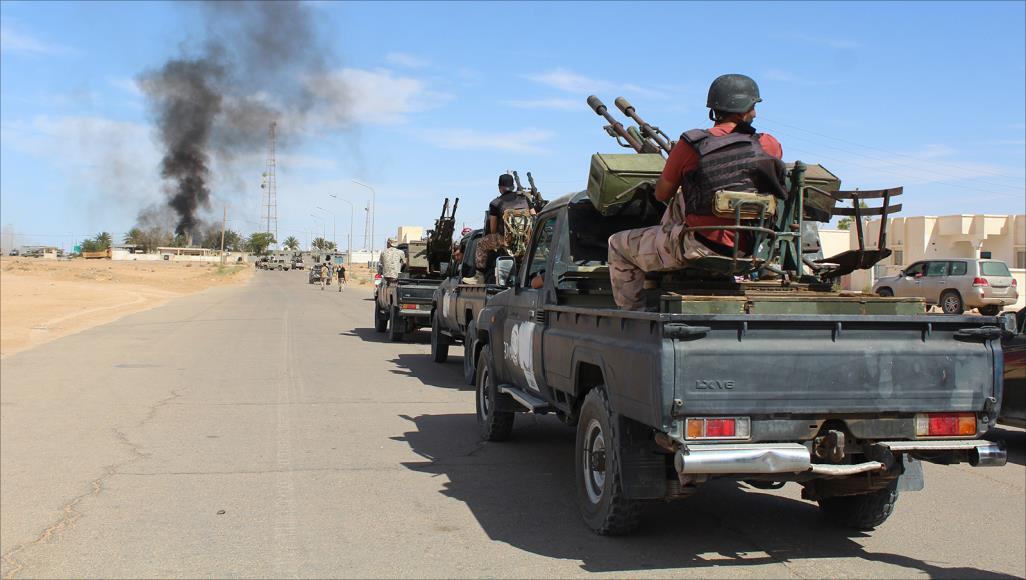 صورة حشودات عسكرية لمعركة سرت المرتقبة