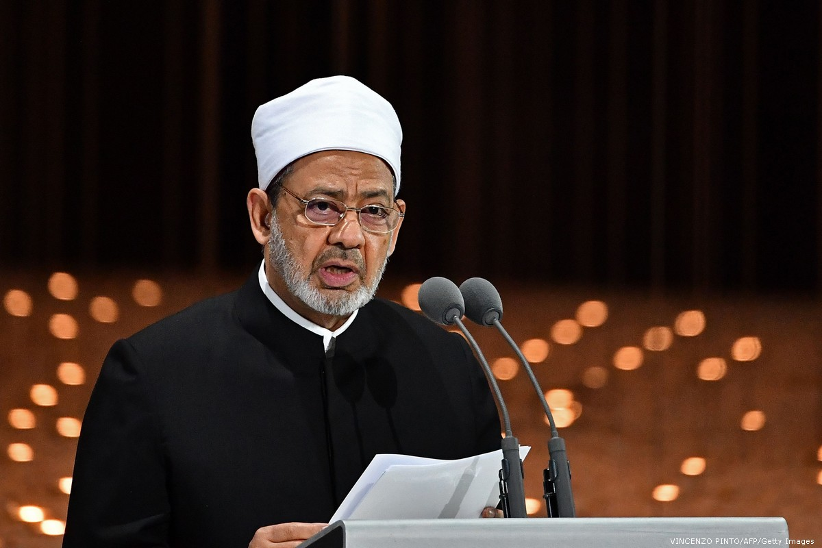الإمام الأكبر في الأزهر بمصر الشيخ أحمد الطيب