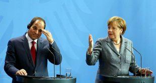 المستشارة الألمانية أنجيلا ميركل والرئيس المصري عبد الفتاح السيسي