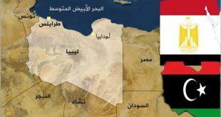 خارطة مصر وليبيا