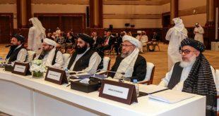 جانب من المباحثات السابقة بين طالبان والولايات المتحدة في قطر