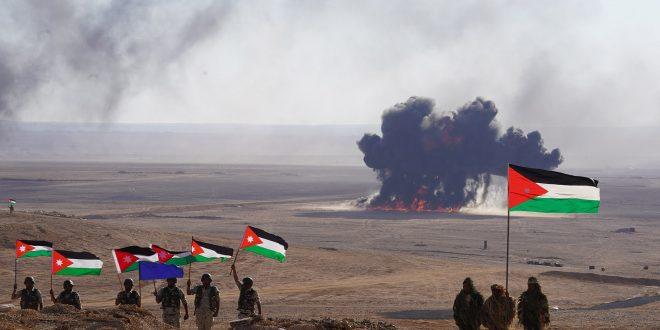جانب من التدريبات التي أجراها الجيش الأردني