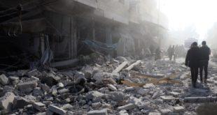 جانب من أضرار الهجمات التي ينفذها نظام الأسد على إدلب