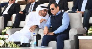 الرئيس عبد الفتاح السيسي وولي عهد أبو ظبي محمد بن زايد