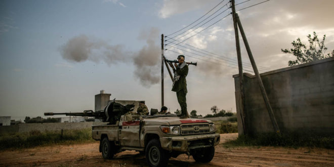 """قوات الجيش الليبي التابع لحكومة الوفاق خلال عملية """"عاصفة السلام"""" ضد قوات خليفة حفتر في طرابلس 27 مارس 2020"""