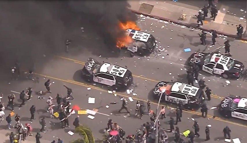 صورة الاحتجاجات في أمريكا تتصاعد وفرض حظر التجول في العديد من المدن