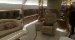الطائرة الإماراتية من الداخل