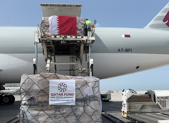 مساعدات إنسانية قطرية