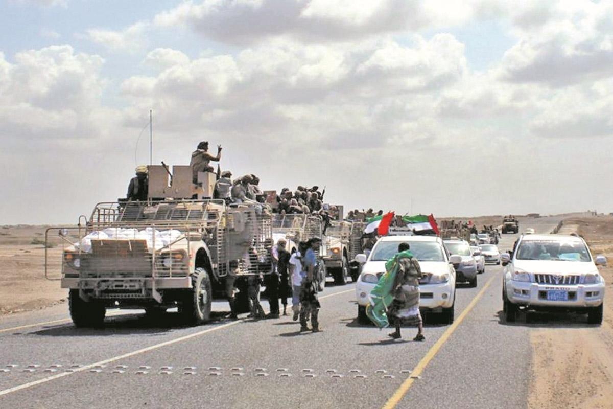عناصر من المجلس الانتقالي المدعوم من الإمارات في جنوبي اليمن