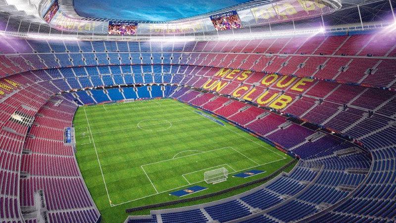ملعب فريق برشلونة
