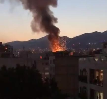 جانب من الانفجار في طهران
