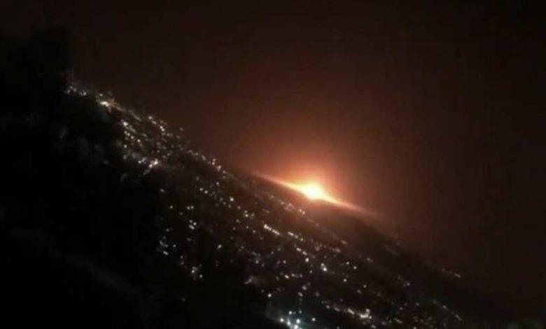 جانب من انفجارات في طهران (أرشيف)