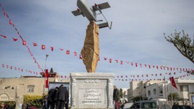 نصب تذكاري في تونس لطائرة أبابيل التي أشرف على تطويرها الشهيد الزواري