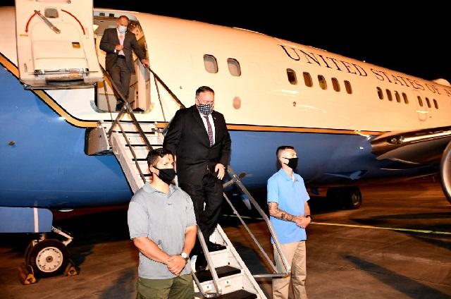 وصل وزير الخارجية الأمريكي مايك بومبيو الأربعاء إلى الإمارات