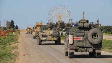 صورة انفجار في دورية روسية تركية مشتركة بإدلب
