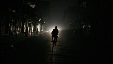 جانب من انقطاع التيار الكهربائي في سوريا