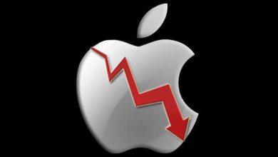 صورة انخفاض القيمة السوقية لآبل وخسارة بمقدار نصف تريليون دولار من قيمتها