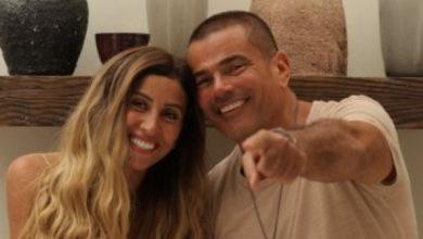 حب الفنان (عمرو دياب) لزوجته دينا الشربيني يظهر للجمهور بشكل علني.