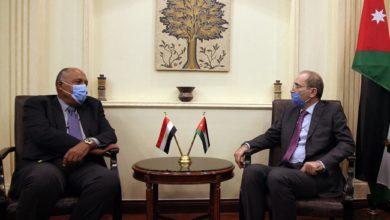 صورة وزراء خارجية مصر والأردن وفرنسا وألمانيا يبحثون عملية التسوية في المنطقة الخميس
