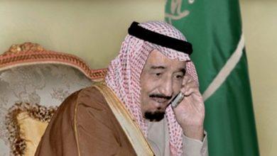 صورة اتصالات مكثفة بين العاهل السعودي وبين ترامب وبوتين وماكرون