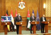 صورة اجتماع عمان يدعو إلى استئناف المفاوضات بين الجانبين الفلسطيني والإسرائيلي