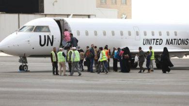 طائرة تابعة للأمم المتحدة في مطار صنعاء الدولي