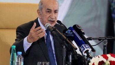 الرئيس الجزائري أكد رفض الهرولة نحو التطبيع وأن الحل يكمن بإقامة دولة فلسطينية مستقلة