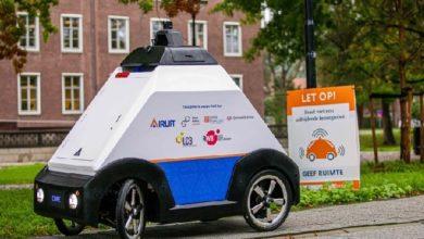 صورة شاهد| أول سيارة ذاتية القيادة لتوصيل الدليفري صنعت في قطر
