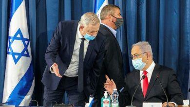 """صورة غانتس يتهم نتنياهو بتجاهله في صفقة طائرات """"أف 35"""" مع الإمارات"""