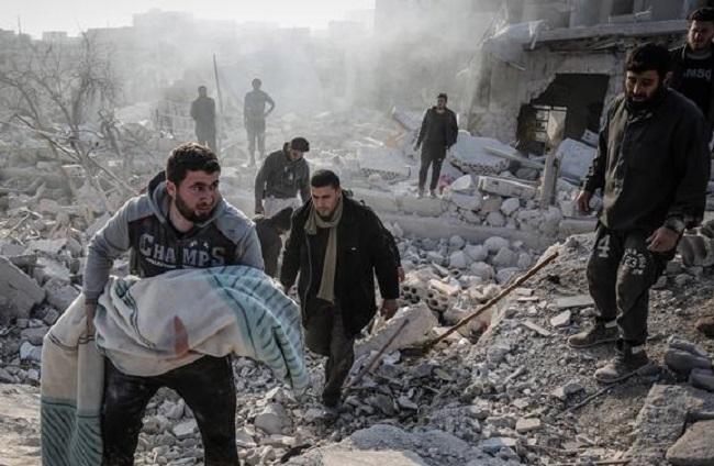 تواصلت العقوبات الأمريكية ضد النظام السوري والشخصيات والكيانات المرتبطة به بسبب الهجمات المتواصلة ضد المدنيين السوريين
