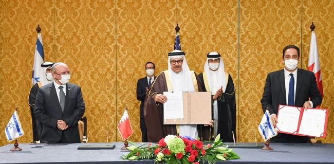 إعلان مشترك بين البحرين وإسرائيل على إقامة علاقات دبلوماسية بعد إعلان واشنطن المبدئي الشهر الماضي