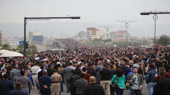 جانب من تظاهرات إقليم كردستان العراق