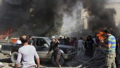 صورة إدلب ضحية التحالف السوري الروسي: دماء ودمار وقصف وتشريد على مدار عام