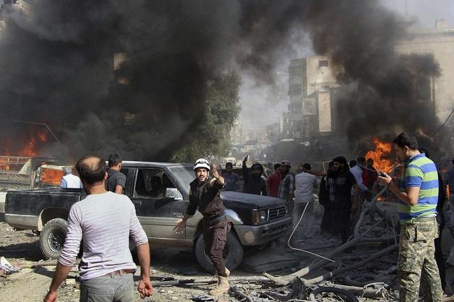 التحالف السوري الروسي ارتكب جرائم حرب وهجمات مباشرة ضد المدنيين في إدلب