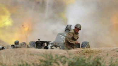 جانب من القتال في كاراباخ دون التوصل إلى هدنة