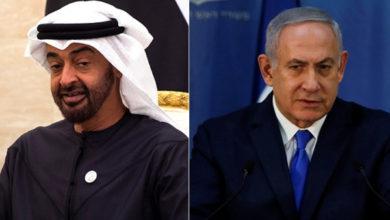 بنيامين نتنياهو (يمين) ومحمد بن زايد