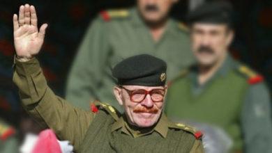 صورة حزب البعث يعلن عن وفاة عزت الدوري داخل العراق
