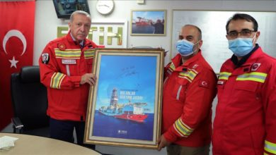 صورة أردوغان يعلن اكتشاف المزيد من احتياطيات الغاز في البحر الأسود