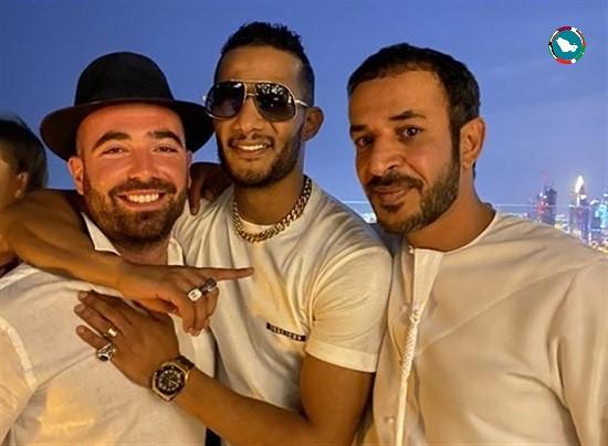 محمد رمضان مع المغني الإسرائيلي